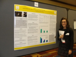 Emily Mancil presenting research on ADHD and sexually risky behavior at ABC