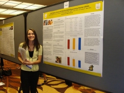 Anna Womack presenting data on love styles of couples with and without an ADHD partner at ABCT