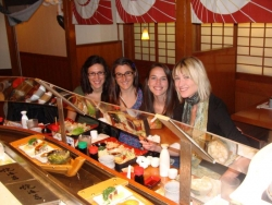 Emily Mancil, Marie Saxon, Anna Womack, and Laura Eddy- down time in San Fran! lab at Uncle Vitos 2010