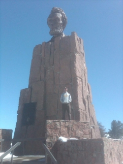 Will at the OTHER Lincoln Memorial, visiting U. Wyoming for research collaboration